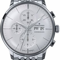 Junghans Meister Chronoscope Steel 41mm White No numerals