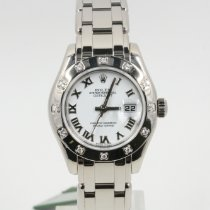 Rolex 80319 Or blanc 2006 Lady-Datejust Pearlmaster 29mm nouveau