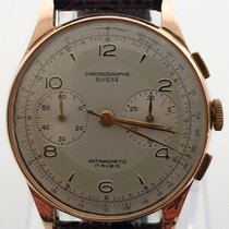 Chronographe Suisse Cie Or rose 37mm Remontage manuel 830155 occasion