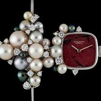 IWC Rare Agate Dial Pearl & Diamond Bangle Watch