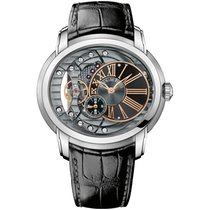 Audemars Piguet Millenary 4101 Steel Black Leather Strap