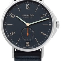 NOMOS Ahoi Atlantik Datum Steel 40.3mm Blue United States of America, New York, Airmont