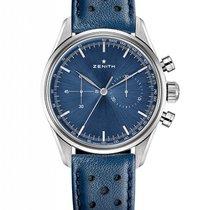 Zenith El Primero Original 1969 Acier 38mm Bleu Sans chiffres France, Thonon les bains