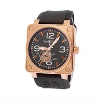 Bell & Ross - BR01-97 . 46mm very big, lot of pink gold -...
