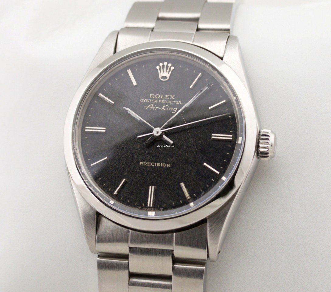 Rolex Air King Precision Edelstahl Automatic Gilt Black