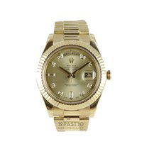 Rolex Day-Date II pre-owned 41mm Yellow gold