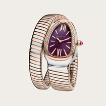 Bulgari Serpenti Gold/Steel 35mm Purple