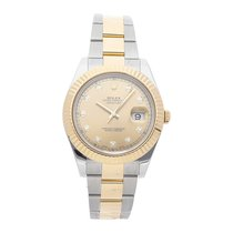 Rolex Datejust II pre-owned 41mm Champagne Date Fold clasp