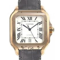 Cartier Red gold Automatic Silver Roman numerals 39.8mm new Santos (submodel)