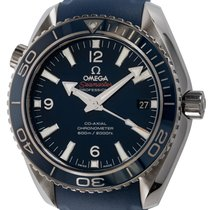 Omega Titanium Automatic Blue 42mm pre-owned Seamaster Planet Ocean