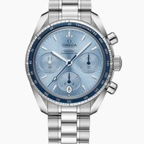 Omega Speedmaster Steel 38mm Blue No numerals United States of America, Iowa, Des Moines