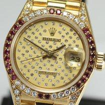 Rolex DATE JUST Ladies Ruby and diamond original 69038