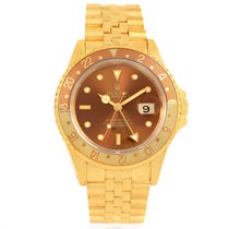 Rolex Gmt Master Rootbeer 18k Yellow Gold Dial Mens Watch 16718