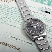 Rolex SS 36mm DATEJUST Slate Dial w/ Box & Papers 16030...