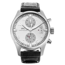 IWC Steel Automatic Silver Arabic numerals 43mm new Pilot Spitfire Chronograph