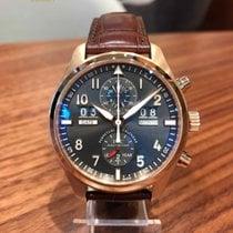 IWC Pilot Spitfire Perpetual Calendar Digital Date-Month pre-owned Perpetual calendar Crocodile skin