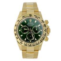 Rolex DAYTONA 18K Yellow Gold Watch Green Dial