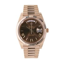 Rolex Day Date Brown Chocolate 18 K Rose Gold 228235