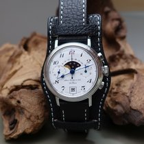 Alfred Rochat & Fils Sterling Silber Chronograph Mondphase...