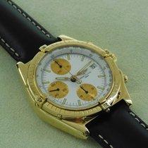 Breitling massiv 18 Karat Gelbgold Chronomat wie Neu Full Set