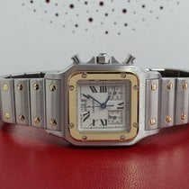 Cartier Santos Galbée pre-owned 32mm Gold/Steel