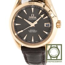 Omega Yellow gold Automatic Grey 38.5mm new Seamaster Aqua Terra