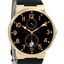 Ulysse Nardin Marine Chronometer 41mm pre-owned 40mm Black Date Crocodile skin