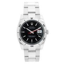 Rolex Datejust Turn-O-Graph Or/Acier 36mm Noir Sans chiffres
