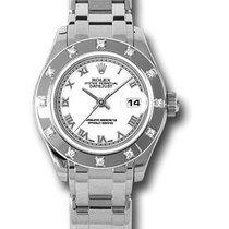 Rolex Lady-Datejust Pearlmaster Weißgold Weiß