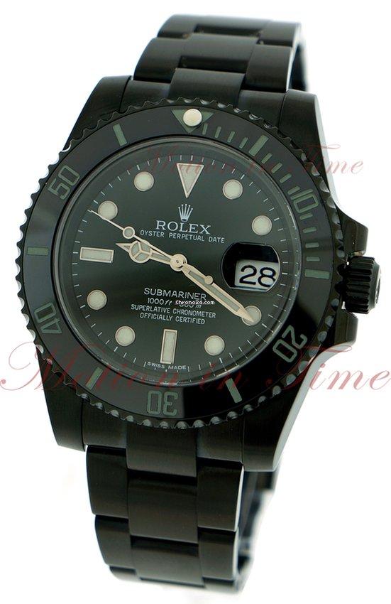 rolex submariner black dial ceramic bezel black pvd steel f r preis auf anfrage kaufen. Black Bedroom Furniture Sets. Home Design Ideas