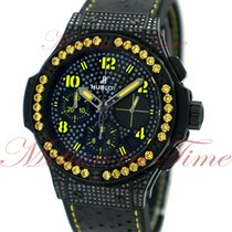 "Hublot Big Bang 41mm Fluo ""Yellow"", Black Diamond Dial, Yellow..."