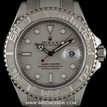 Rolex Stainless Steel O/P Platinum Dial Yacht-Master 16622