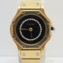 Cartier Santos Octagon Yellow Gold Original Diamond 24mm