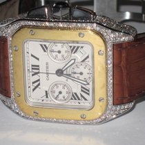Cartier Santos 100 Gold/Steel 42mm Silver Roman numerals United States of America, New York, New York