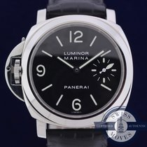 Panerai 44mm Manual winding 2002 pre-owned Luminor Marina Black