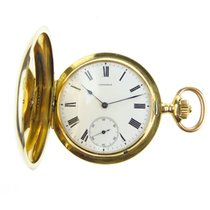 Longines Grand Prix 18k Gold Full Hunter Pocket Watch