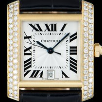 Cartier Tank Française Yellow gold 28mm Silver Roman numerals
