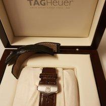 TAG Heuer Grand Carrera tweedehands Zilver Datum Leer