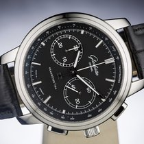 Glashütte Original Senator Chronograph XL Steel 44mm Black No numerals