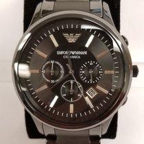 Armani Ceramica Black Dial Ceramic Men's Watch Ar1451