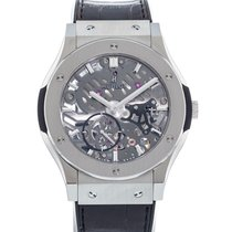 Hublot Classic Fusion Ultra-Thin pre-owned 42mm Transparent Date Leather