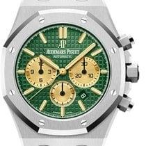 Audemars Piguet Titanium Automatic Green No numerals 41mm new Royal Oak Chronograph