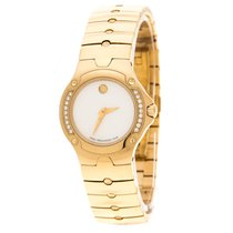 Movado Gold/Steel Quartz Movado White Mother of Pearl Yellow Gold Plated Steel pre-owned UAE, DUBAI