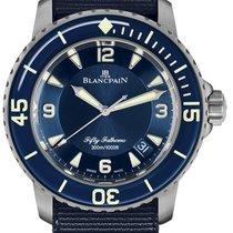 Blancpain Titan Automatik Blau 45mm neu Fifty Fathoms