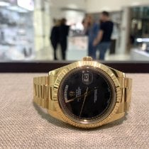 Rolex Day-Date II Yellow gold 41mm Brown Roman numerals United Kingdom, Gateshead