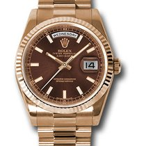 Rolex Rose gold Brown 36mm new Day-Date 36