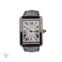 Cartier Tank Solo pre-owned 31mm Silver Date Leather