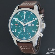IWC Pilot Chronograph Aço 43mm Verde