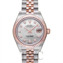 Rolex Lady-Datejust Or rose 28mm Nacre
