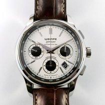 Wempe Zeitmeister Glashütte /SA automatic chronograph white dial
